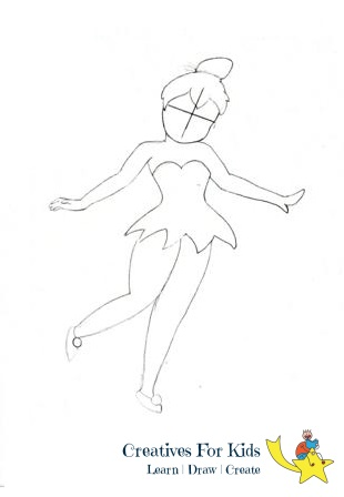 How To Draw Tinkerbell Step By Step Tutorial