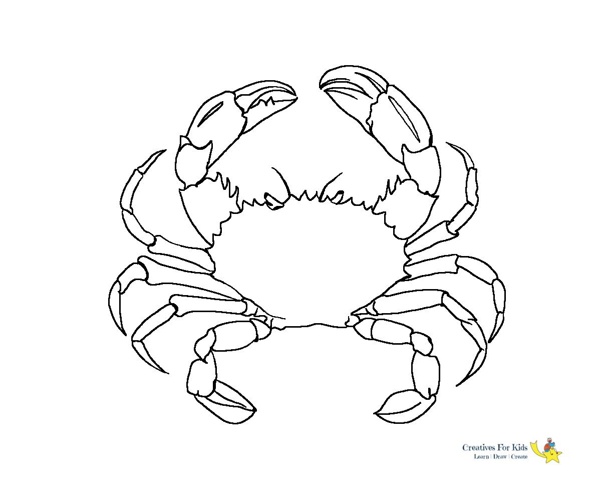 Cute Crab Sac17 Coloring Pages Printable | 1000x1200