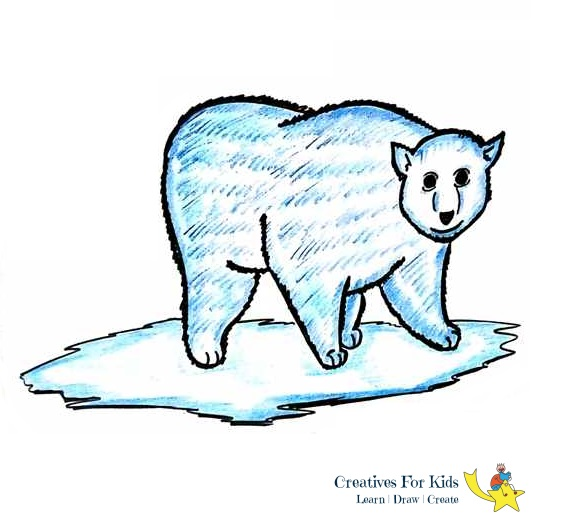How To Draw A Polar Bear Step By Step Tutorial