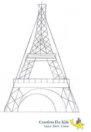 eiffel tower drawing tutorial