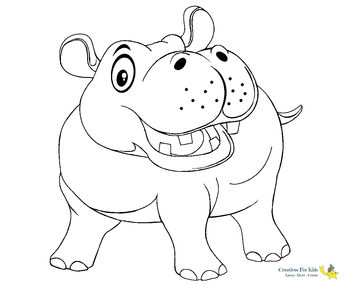Hippo Coloring Pages - Kiddo